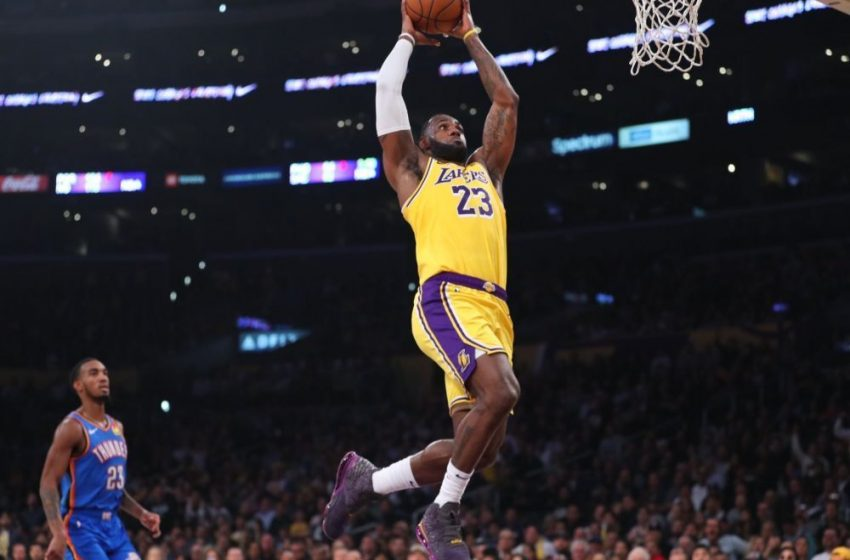 LeBron fija récord de triple-doble en triunfo de los Lakers