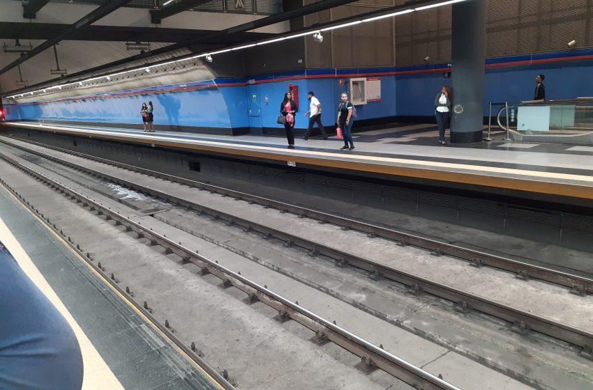 Metro de santo domingo con baja concurrencia por coronavirus