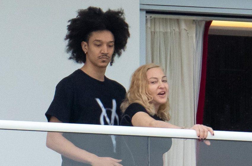 Madonna feliz y enamorada de su novio de 26 años