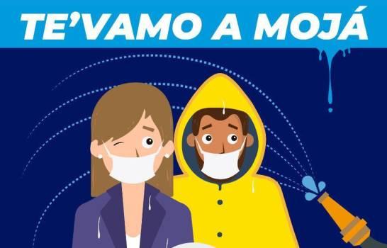 """""""Te vamo a mojá"""": Alcaldía de Santiago advirtió echará agua a quienes violen distanciamiento físico"""