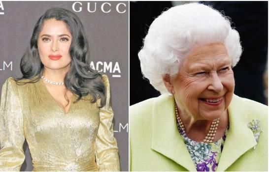 ¿Es Salma Hayek más rica que la reina Isabel?