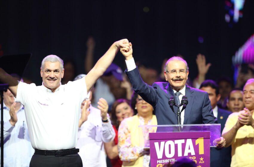 PLD confirma que Danilo Medina se integrará a campaña de Gonzalo Castillo