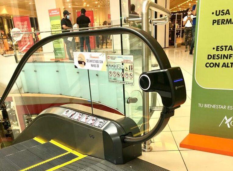 Ágora Mall instala dispositivos de esterilización en puntos estratégicos
