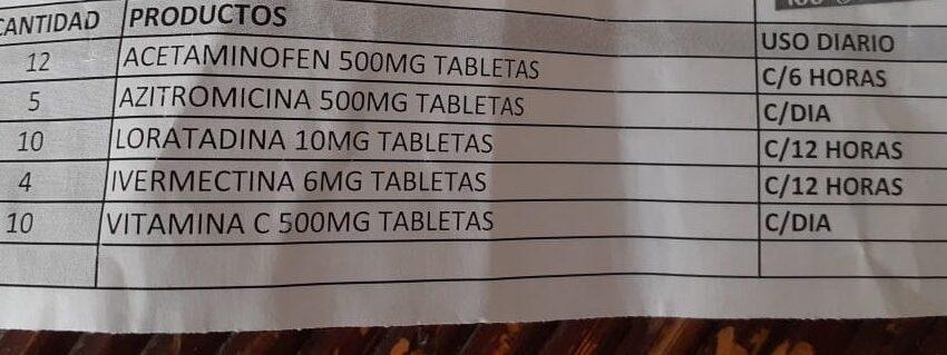 ¡No se automedique! Advierten farmacias venden de supuestos paquetes para tratar COVID-19