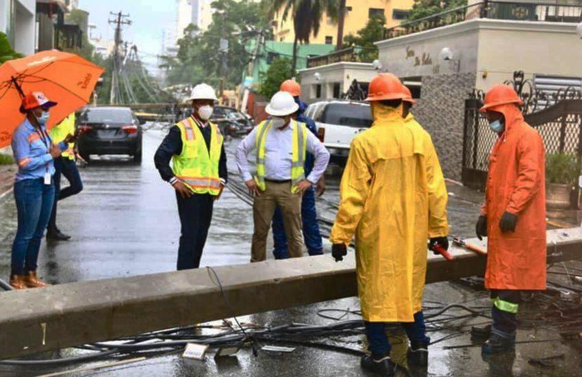 Edesur normaliza el 97.5% de servicios eléctricos afectados por la tormenta Laura