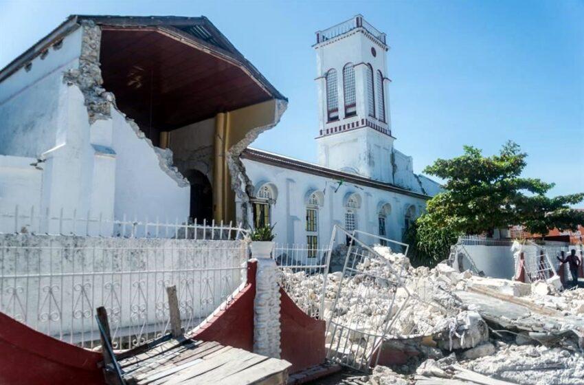 Fuertes lluvias caen en la zona más afectada por el terremoto en Haití